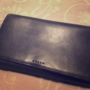 Black 💯% Leather Coach Wallet